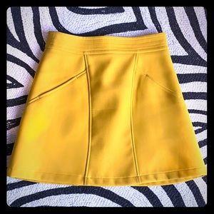 H&M yellow mini skirt